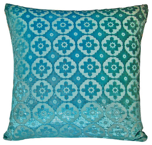 Modern Moroccan Pillows : Small Moroccan Velvet Pillow - Modern - Decorative Pillows - by AllModern
