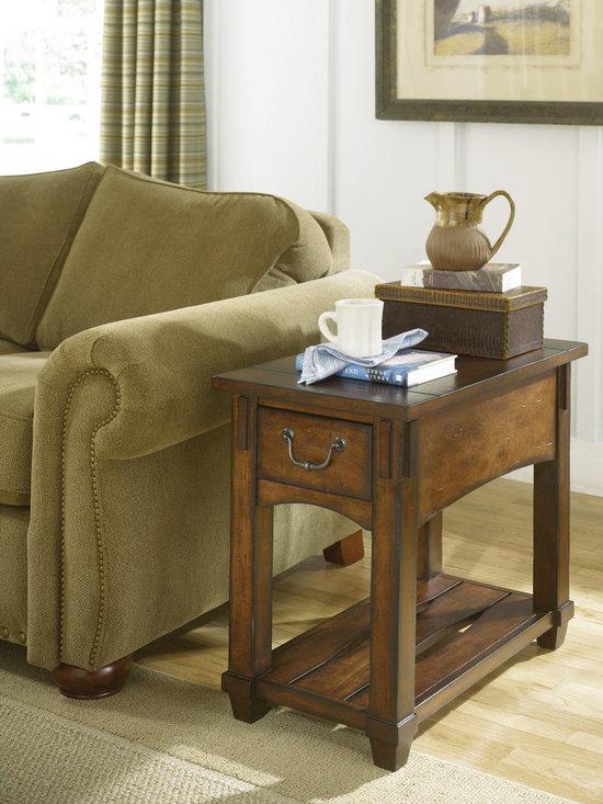 Narrow Chair Side Table - Tacoma by Hammary -