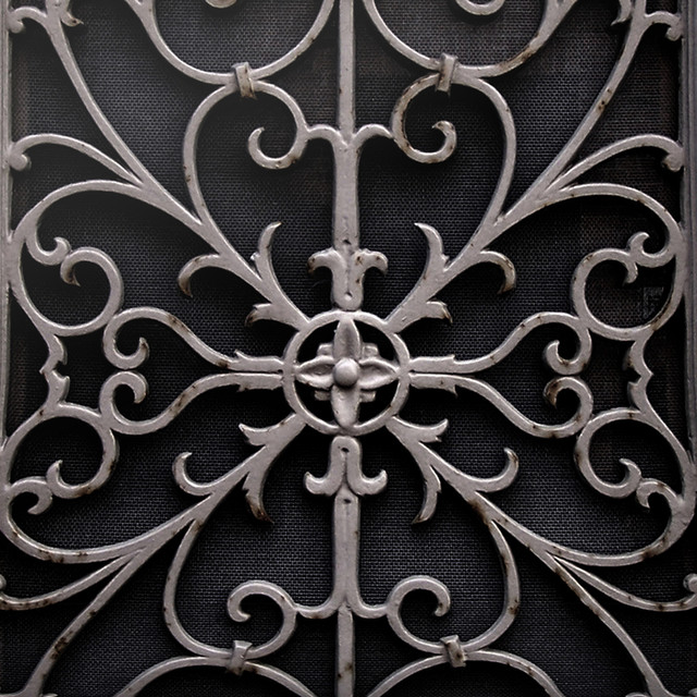 Wrought Metal Gate wallpaper eclectic-wallpaper