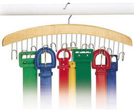 Wood Belt Hanger - Natural wall-hooks