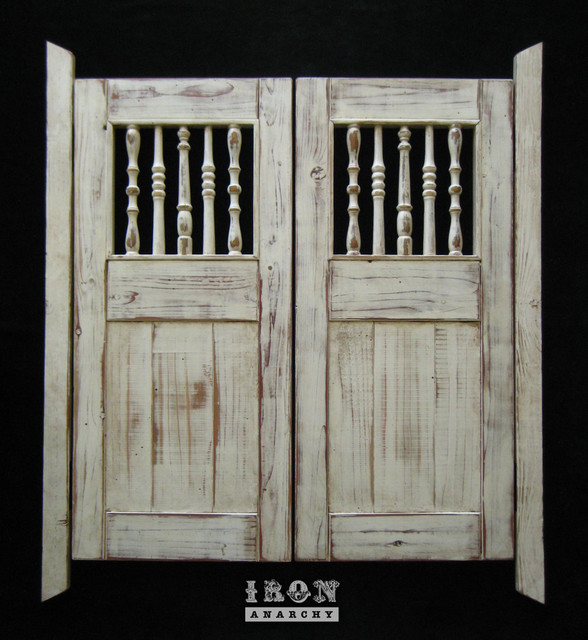 Custom Swinging Saloon Doors farmhouse-interior-doors
