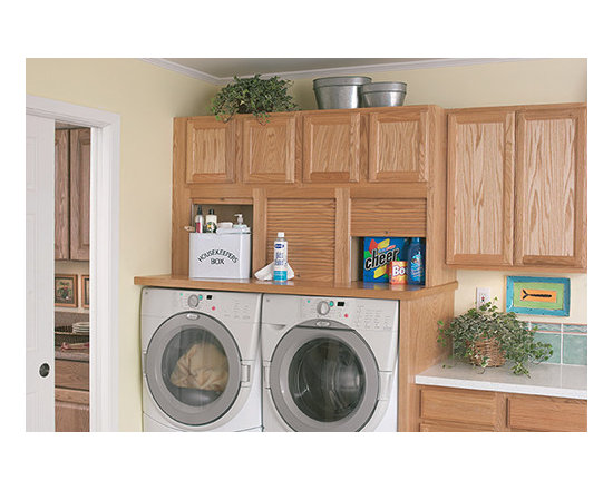 Wall Garage - Wall Garage hides your detergent and other cleaning supplies when not in use keeping counters clutter-free.