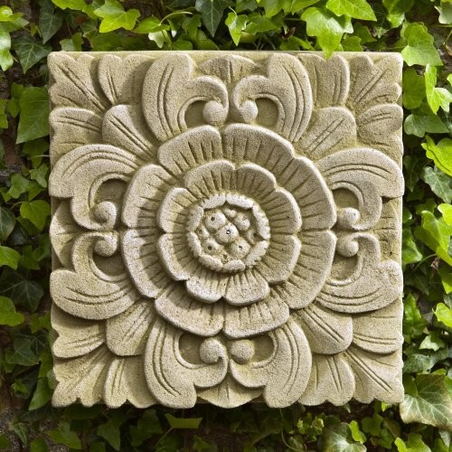 Campania international square eden cast stone outdoor wall for Outdoor garden wall decor