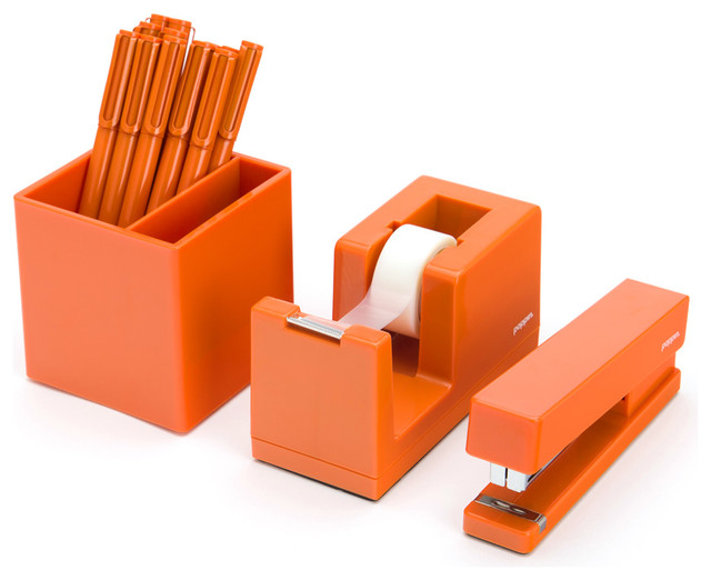 Starter set orange contemporary desk accessories - Designer desk accessories and organizers ...