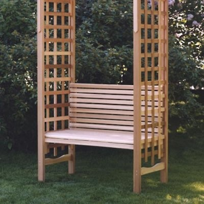 All Things Cedar Classic Arbor Bench modern-benches
