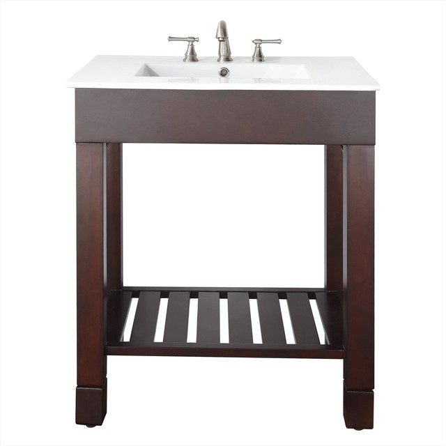 Avanity Loft 30 In. Vanity Only Dark Walnut traditional-bathroom-vanities-and-sink-consoles