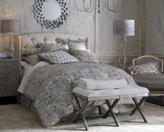 lavender gray bedroom