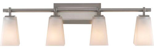 Clayton Brushed Steel Four-Light Bath Fixture contemporary-bathroom-lighting-and-vanity-lighting