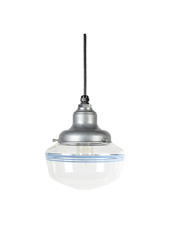 Scholar Clear Schoolhouse Pendant - We're serving up the charm with our iconic schoolhouse light fixtures. Hand-crafted glass globes are fitted on our unique ceiling mounts to give your home a touch of schoolhouse nostalgia.