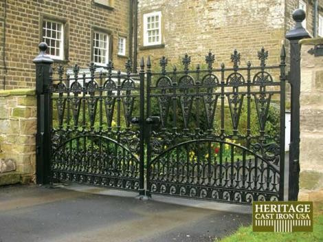 Cast Iron Garden Gates traditional-home-fencing-and-gates