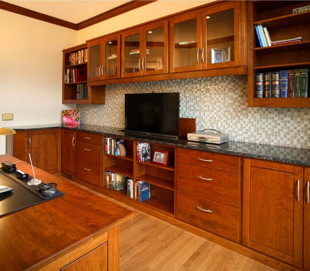 Custom Built In Office craftsman-desks