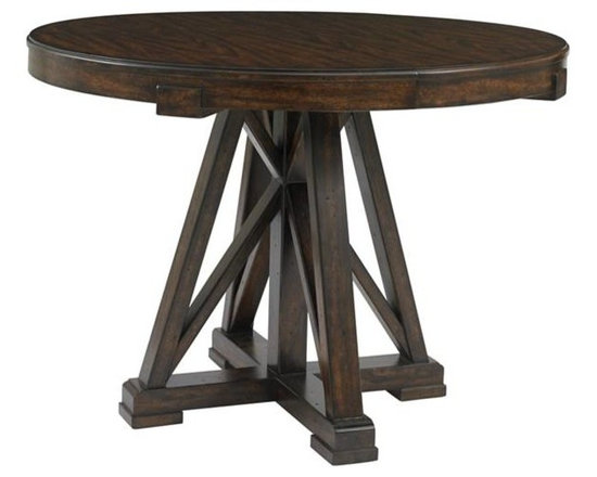 Stanley Furniture - Round Oak Pedestal Table - The textural beauty of the oak is the distinguishing feature of the Round Pedestal Table.