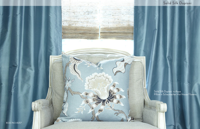 DrapeStyle Solid Silk Drapery traditional-curtains