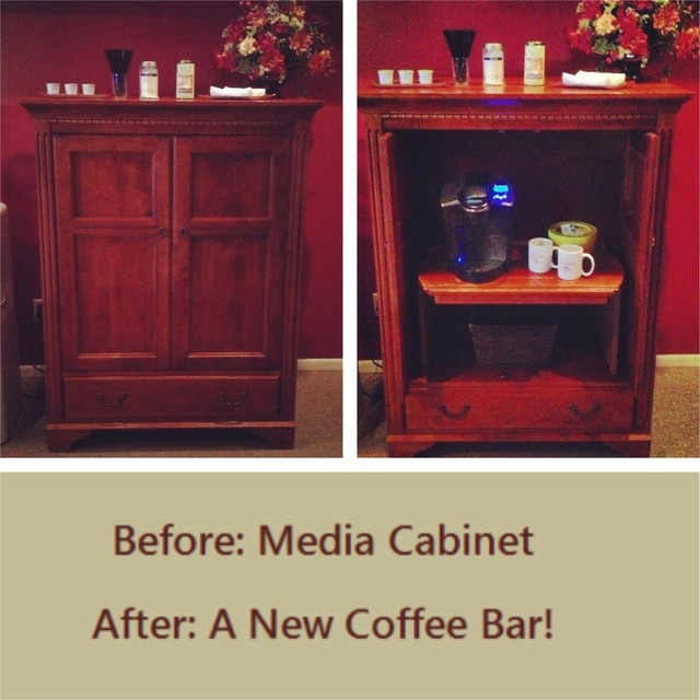 Repurposed Media Cabinet - Traditional - Media Cabinets - other metro - by Custom Audio