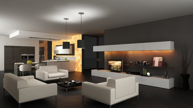 Space design contemporary-rendering