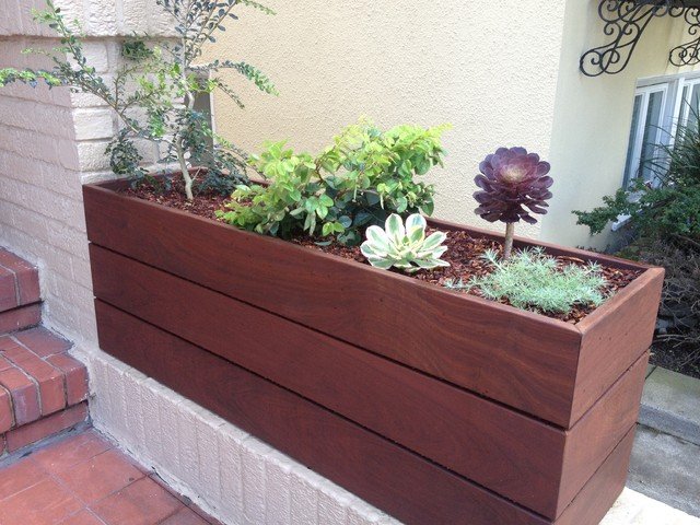 Custom Ipe Planter Contemporary Outdoor Products San