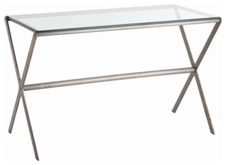 Arteriors Wrigley Iron/Glass Desk contemporary-side-tables-and-end-tables