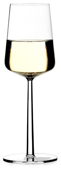 Iittala - Essence White Wine Glass, Set of 2 modern glassware