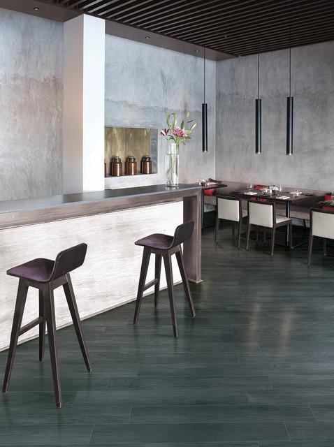 "French Woods - Ebony 8""x48"" contemporary-dining-room"