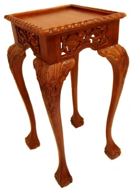 Large Chippendale Plant Stand asian-side-tables-and-end-tables