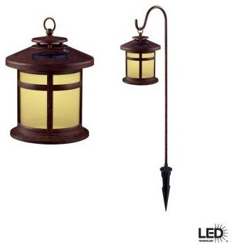 Hampton Bay Outdoor Lighting. Reviere Outdoor Rustic Bronze Solar