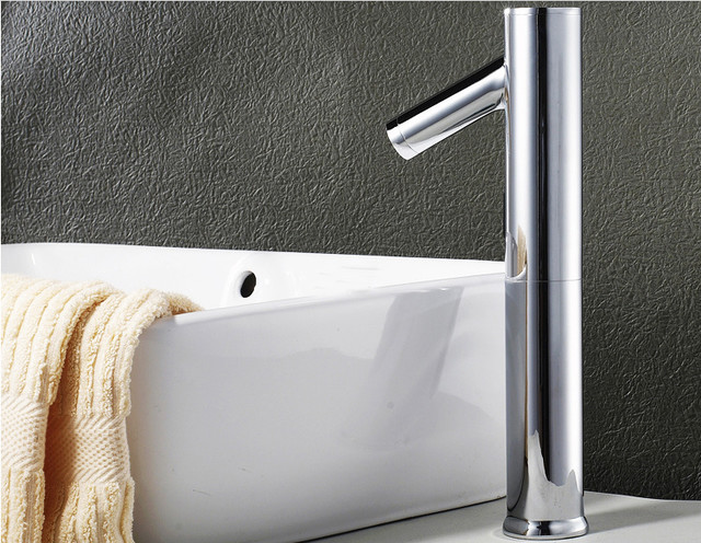 NEW Chrome Finish Brass Bath sink Faucet with Automatic Sensor hot/cold AC/DC 22 contemporary-bathroom-faucets-and-showerheads