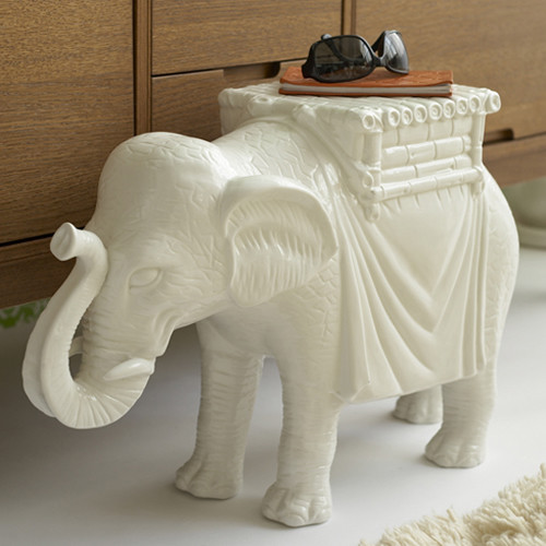 Elephant Side Table by Twos Company eclectic side tables and accent tables