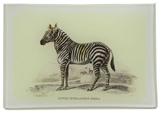 Intelligent Little Zebra Decoupage Tray eclectic-desk-accessories