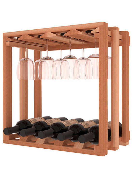 Wine Storage Lattice Stemware Cube in Redwood - Designed to stack one on top of the other for space-saving wine storage our stacking cubes are ideal for an expanding collection. Use as a stand alone rack in your kitchen or living space or pair with the 20 Bottle X-Cube Wine Rack and/or the 16-Bottle Cubicle Rack for flexible storage.