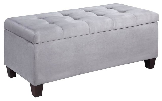 Carmen shoe storage ottoman in gray traditional accent and storage benches Gray storage bench