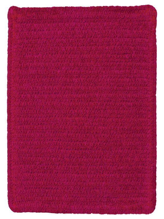 Chenille Creations rug in Ruby - Create a comfy, cozy, and custom-made braided rug with Capel's Chenille Creations.  Strands of plush, all-natural, ultra soft cotton chenille weave together to create a soft and vibrant room accent.