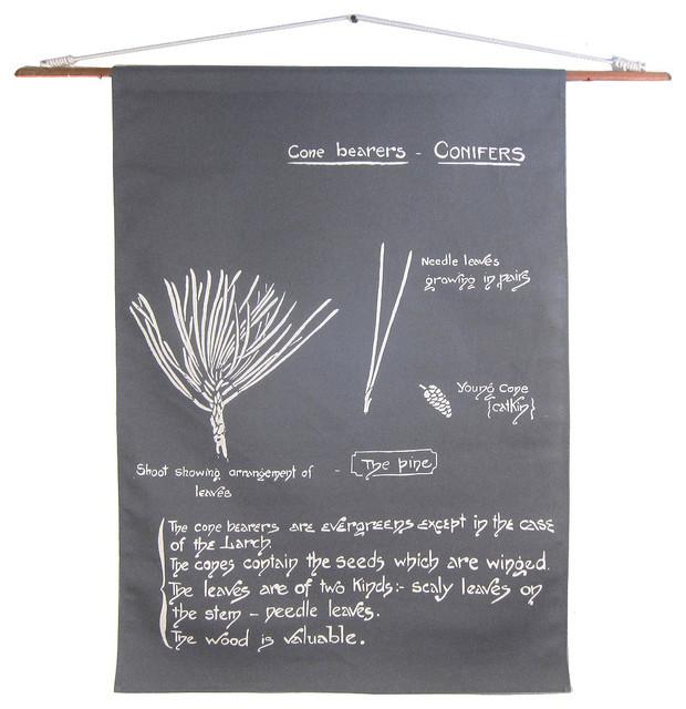 Hanging Botanical, Conifers eclectic-artwork