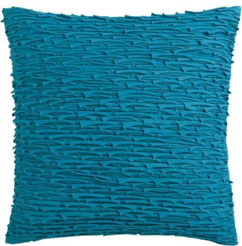shred blue 18 pillow modern pillows