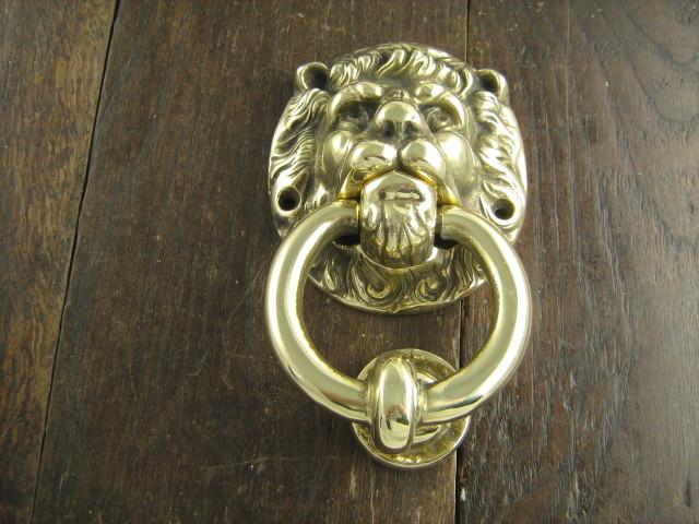 Lion Ring Brass Door Knocker traditional-door-knockers