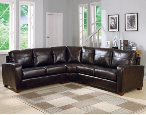 Charles Schneider Natalie Brown Leather Sectional Sofa
