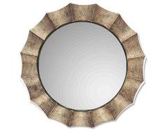 www.essentialsinside.com: Gotham U Antiqued Silver Mirror contemporary-mirrors
