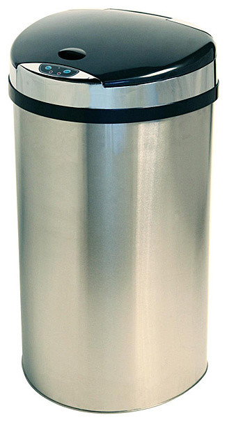 iTouchless 13-gallon Extra-wide Opening Trash Can contemporary-trash-cans