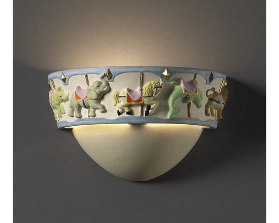Justice Design Group - Justice Design Group KID-3360 Carousel Wall Washer Sconce Kid's Room Co - *Kid's Room Collection Carousel Wall Sconce
