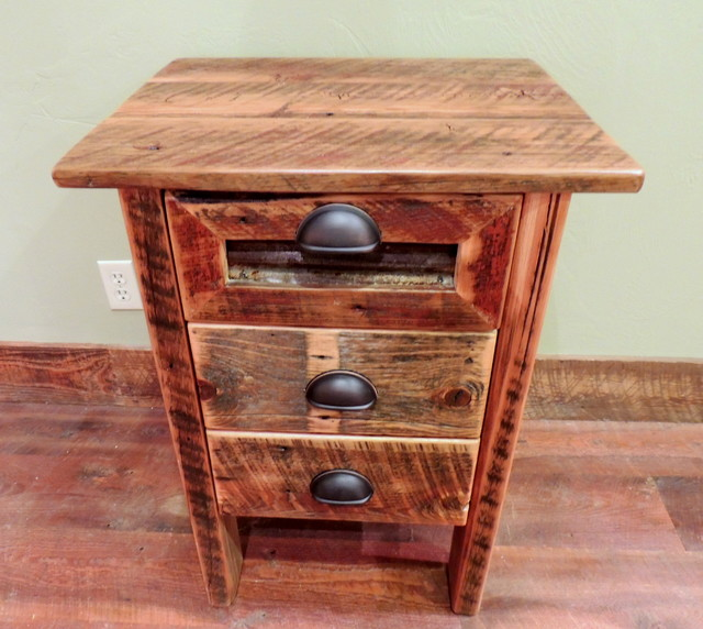 barnwood bedroom furniture rustic nightstands and