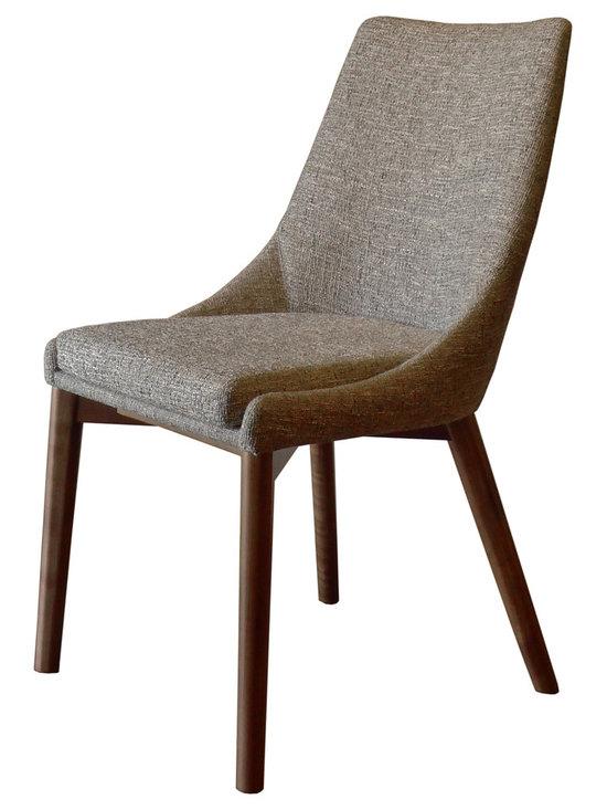 Pascal Dining Chair, Mineral, Medium Walnut -
