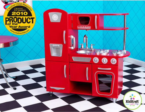 Kidkraft red vintage kitchen playset kids toys and games for Kidkraft cuisine retro