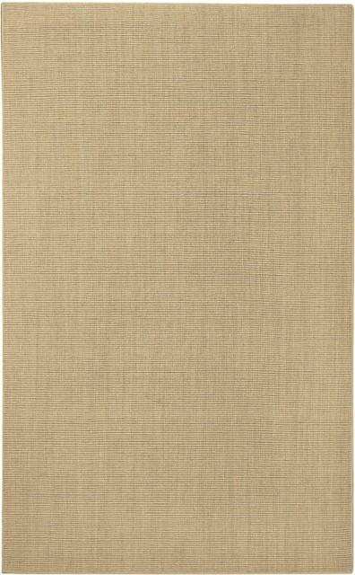 Soft Wool Sisal Like Tan Spa Area Rug traditional-rugs