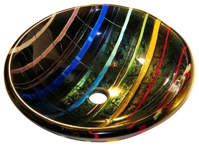 Prism Glass Vessel Sink contemporary-bathroom-sinks
