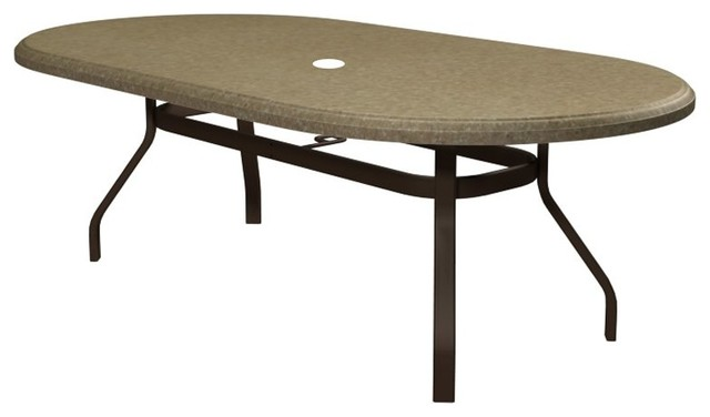 Homecrest Faux Granite Oval Balcony Height Patio Dining Table 384467BFG 03