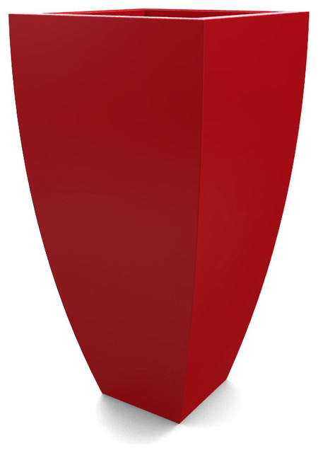 Large Corby Planter Red Contemporary Outdoor Pots And