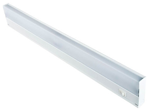 24-Inch Two-Light White Fluorescent Undercabinet Fixture with White ABS Diffuser - Traditional ...