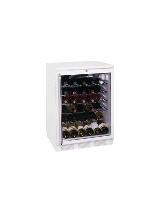 Summit - SWC6GWLTB under counter  glass door wine cellar white - Summits high quality cellars are designed to hold up to years of constant use and set the quality standard Summit wine cellars are commercially approved under-the-counter cellars that allow you to customize your unit This under-the-counter wine cella...