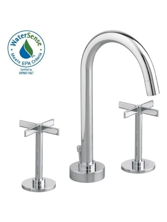 Stoic Widespread Lavatory Faucet - Cross Handles - Cast brass spout and side valves