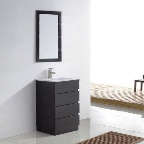 virtu usa bruno 22 in espresso single bathroom vanity set
