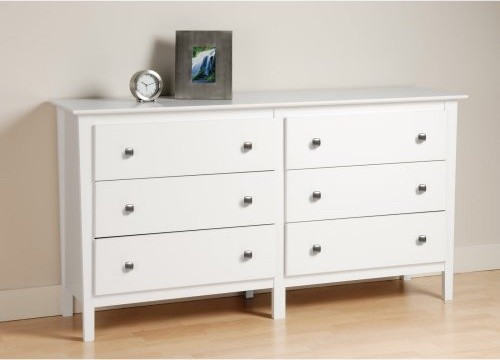 berkshire 6 drawer dresser white modern dressers